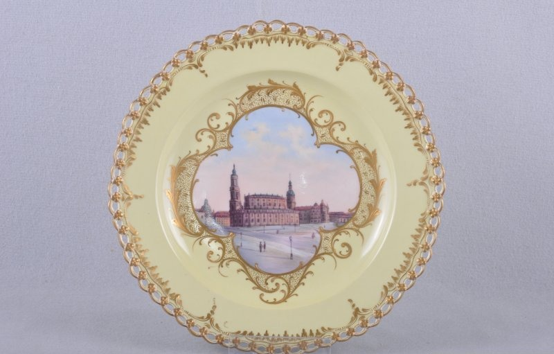kpm berlin views plate dresden breakthrough plate fine painting wall plate ebay. Black Bedroom Furniture Sets. Home Design Ideas