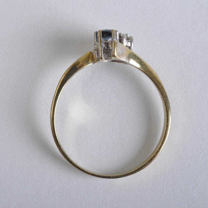 diamant saphir ring jugendstil 8 karat gold rg 55 ebay. Black Bedroom Furniture Sets. Home Design Ideas
