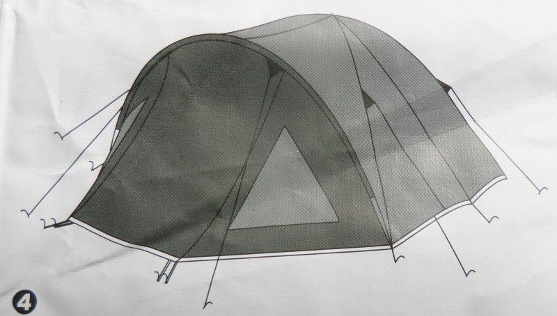 Semoo leichtes Zelt mit Tragetasche f/ür 3-4 Personen 3-Jahreszeiten Zelt doppelwandig Kuppelzelt Beige//Gr/ün