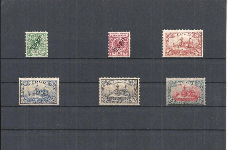togo, deutsche kolonien 1900, einzelmarken aus minrn: 1