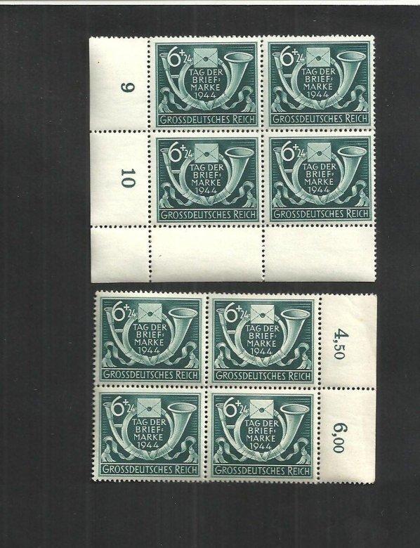 deutsches reich 1944 michelnr 904  viererblöcke