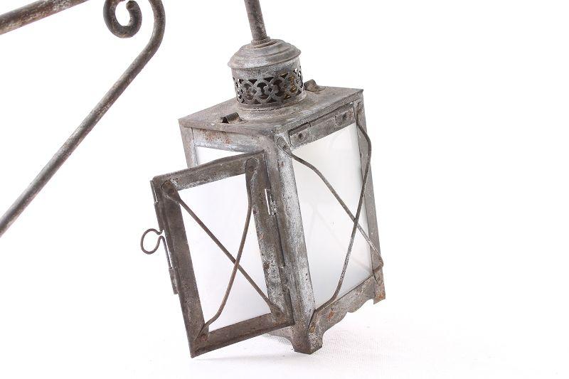 ancienne lanterne lampe de jardin clairage ext rieur lampe murale old vintage ebay. Black Bedroom Furniture Sets. Home Design Ideas