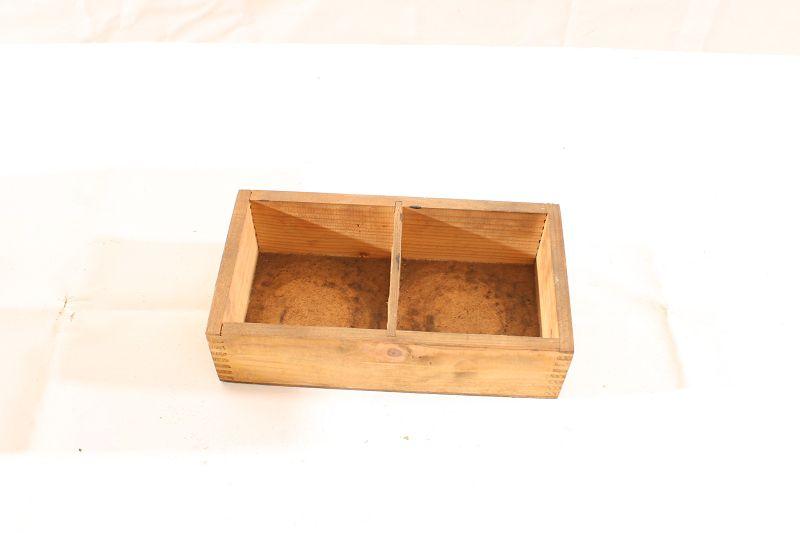 alte Kiste Holz 13x24x6cm Transportkiste Aufbewahrung Messwerkzeug vintage