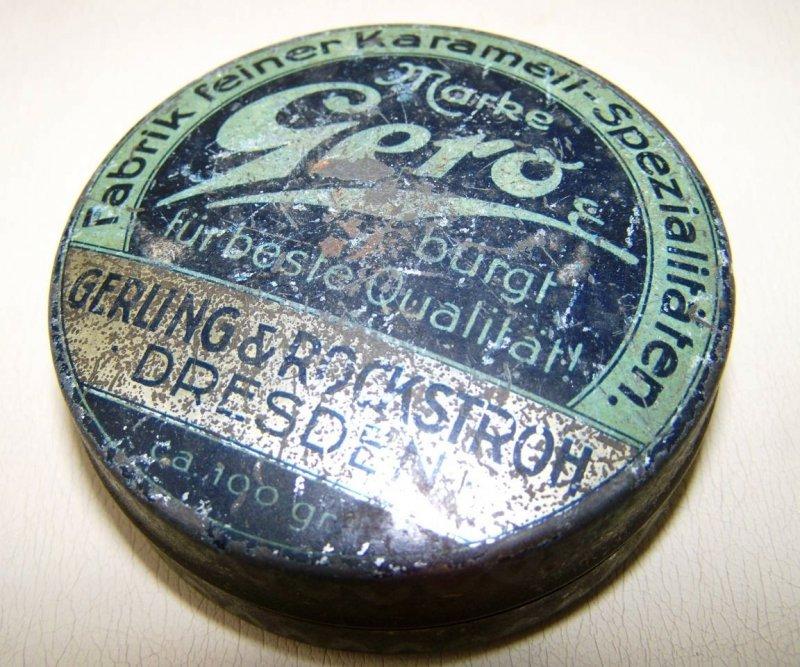 Ancienne boite de conserve bo te katarrhol de gero dresden ebay - Acheter boite de conserve vide ...