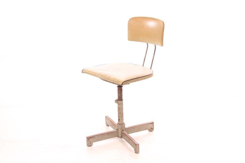 Art Deco Bouncy Old Workshop Chair Vintage Office Chair Designer Swivel Chair