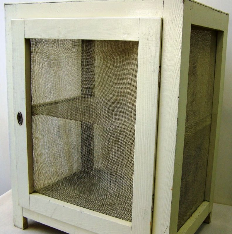 beau vieux cabinet de gage garde manger armoire en bois ebay. Black Bedroom Furniture Sets. Home Design Ideas