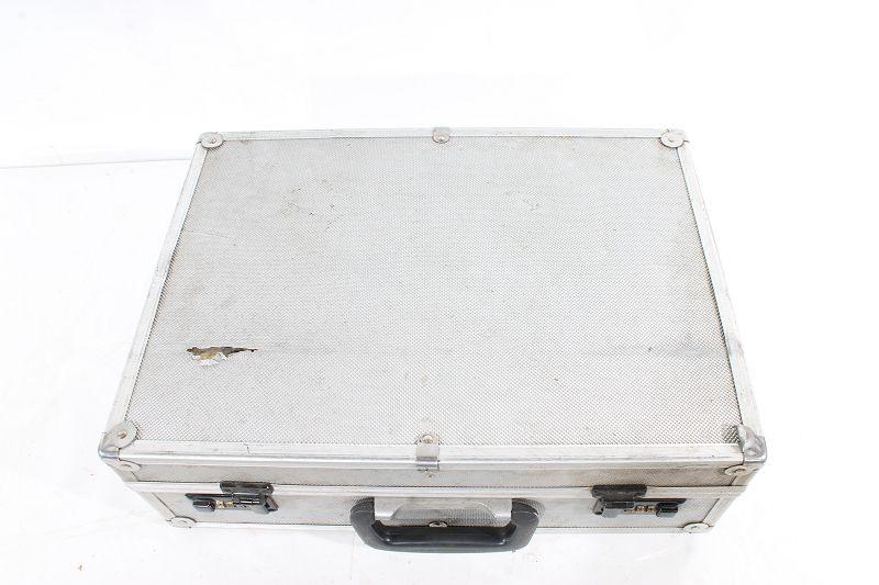 Nickel plated Steel briefcase hinge suitcase box small vintage antique retro old