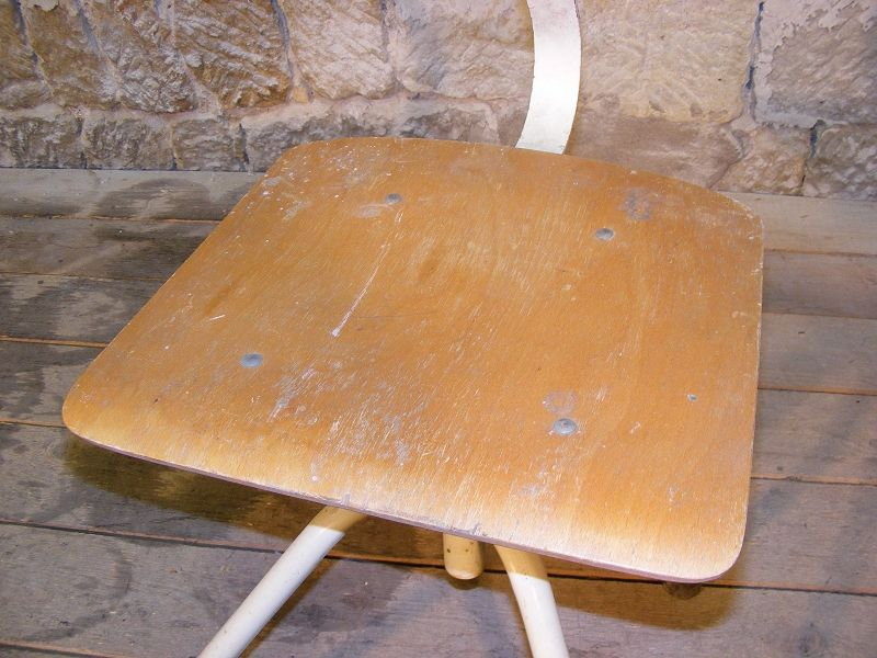 Bella antico sedia officina girevole art deco vintage design