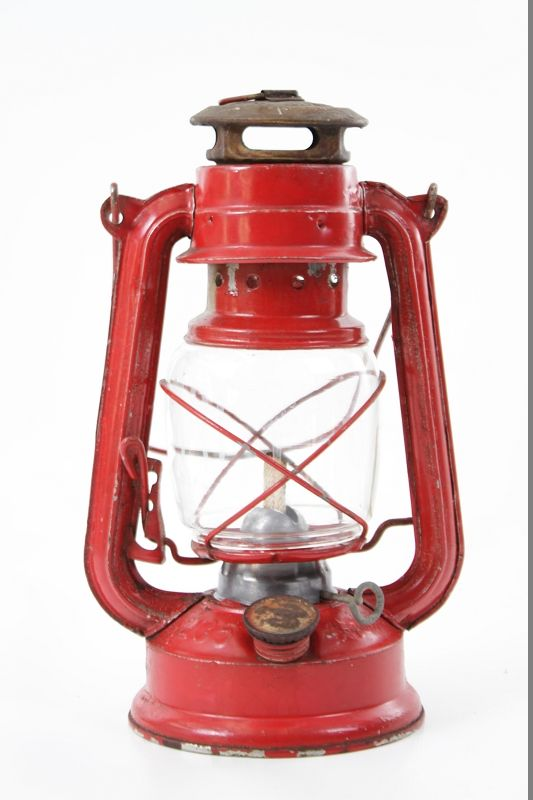 alte petroleumlampe starklichtlampe rot antik lampe ebay. Black Bedroom Furniture Sets. Home Design Ideas