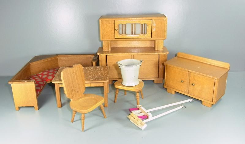puppenk che m bel f r die alte puppenk che ebay. Black Bedroom Furniture Sets. Home Design Ideas