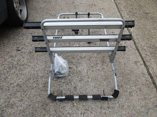 vw bus t5 multivan thule fahrradtr ger heckklappe f r 3. Black Bedroom Furniture Sets. Home Design Ideas