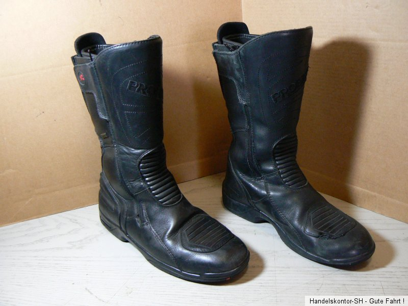 probiker touring stiefel boots echtleder gr 45 wasserdicht. Black Bedroom Furniture Sets. Home Design Ideas