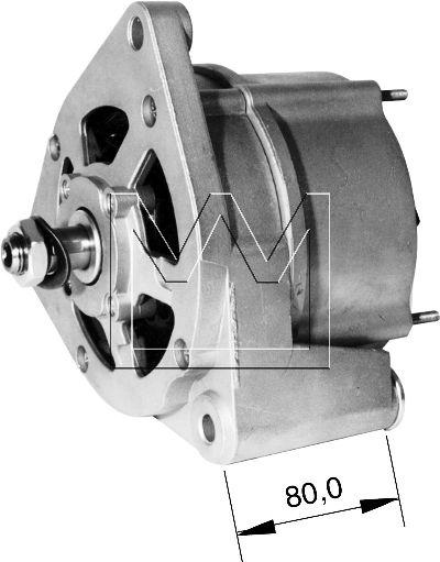 Lichtmaschine für MAN M 90 LKW TRUCK ALTERNATOR MONARK 14V 55A Generator