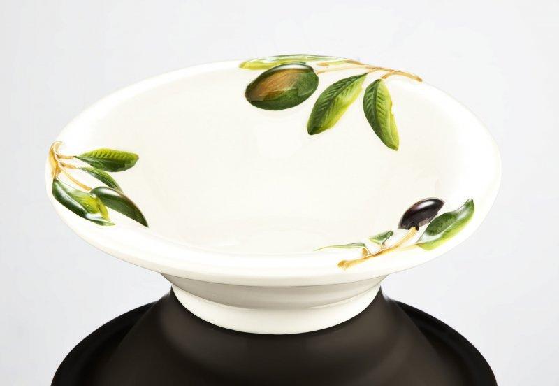 BASSANO rundes Oliven// Zitronen Beistellschälchen italienische Keramik NEU 15x5