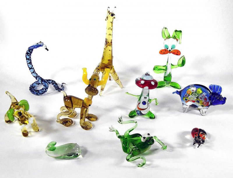 Glasfigur Frosch Glas Figur glass frog Glaskunst Glasobjekt Dekoration 13cm