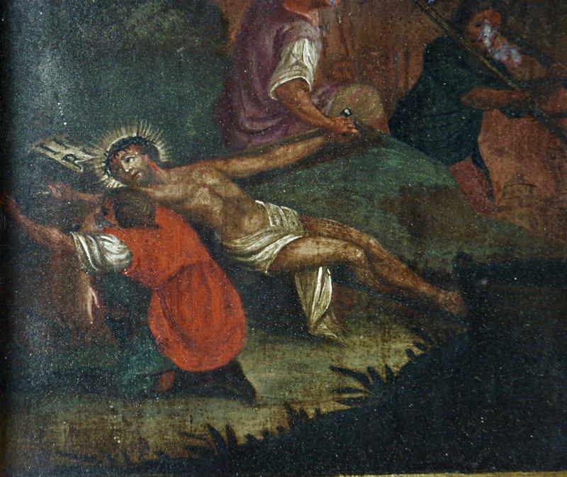 Jesus Gemälde Verunstaltet