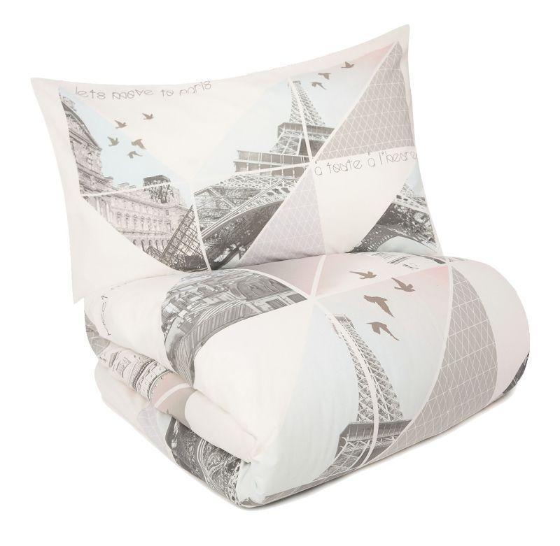 neu paris in love bettw sche set eiffelturm 135x200 wendebettw sche primark ebay. Black Bedroom Furniture Sets. Home Design Ideas