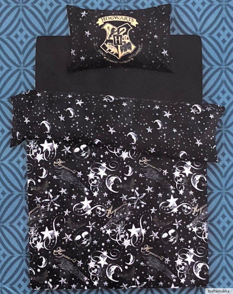 harry potter wende bettw sche hogwarts schwarz gold bettbezug 135x200 cm primark ebay. Black Bedroom Furniture Sets. Home Design Ideas