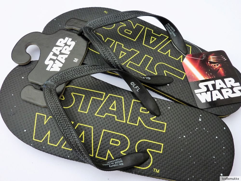 neu star wars herren flip flops m 42 43 zehentrenner schuhe sandalen primark ebay. Black Bedroom Furniture Sets. Home Design Ideas