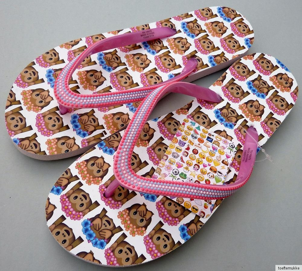 emoji affen damen flip flops 38-39 40-41-42 sandalen