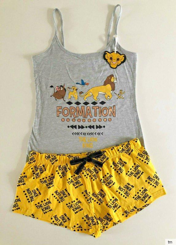 Disney König der Löwen Damen Pyjama Schlafanzug Simba Kurz Shorty XXS-XL Primark