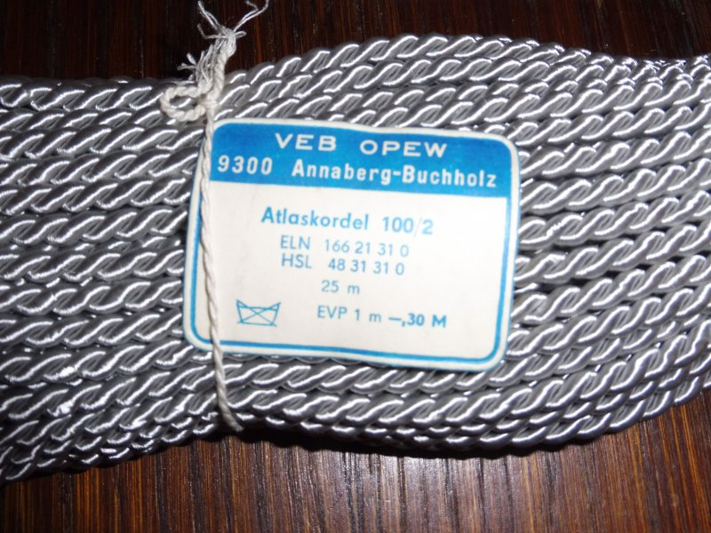DDR Atlaskordel 80//2 lila 25m VEB OPEW Kordel 0,40€//m