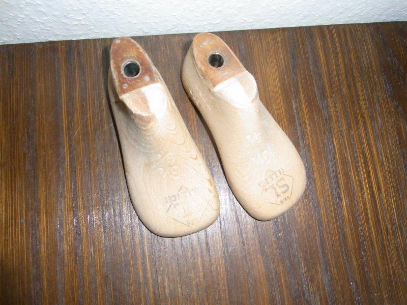 Schuhleisten 1 Paar 13 1//2cm lang 5 1//2 breit Mini alte Kinder Schusterleisten