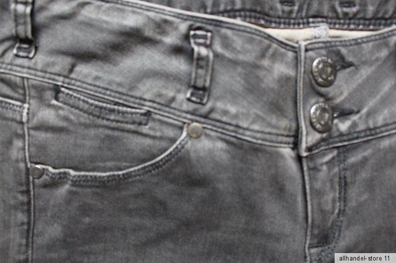 Grau Herrlicher Damen Jeans Birdy Slim 5704 DB650 W30,32 L32