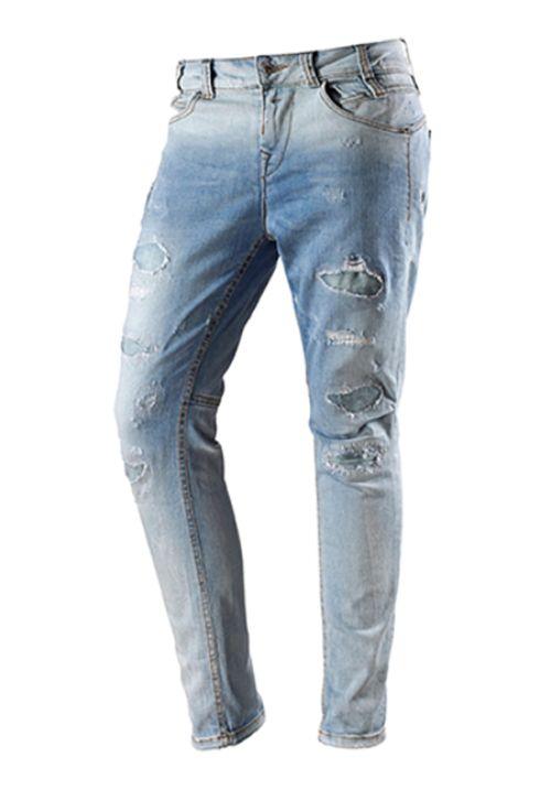 Fornarina BETSY Boyfriend Jeans Hellblau destroyed Größe W25