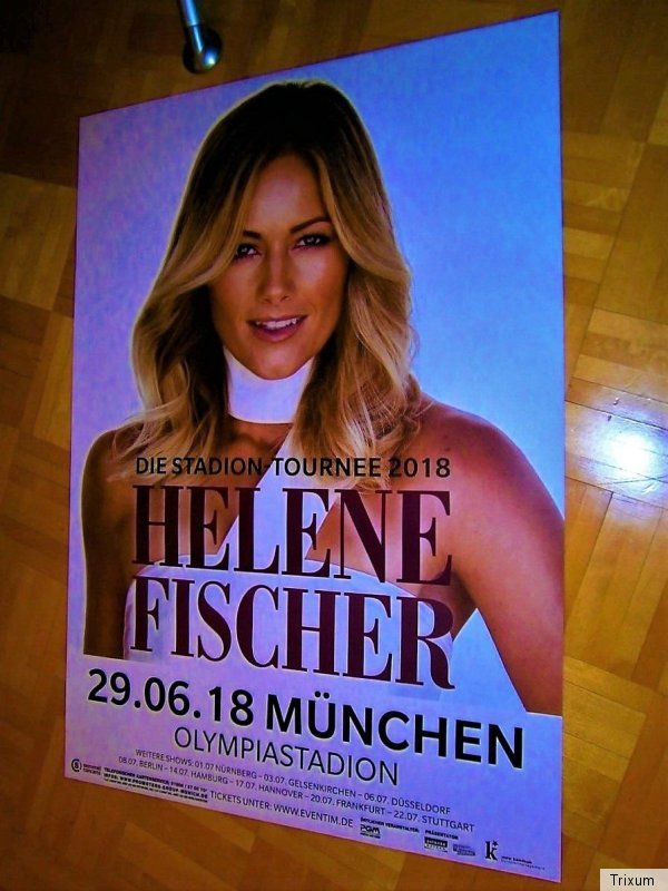 neu 2018 xl 84cm tour promo poster m nchen helene. Black Bedroom Furniture Sets. Home Design Ideas