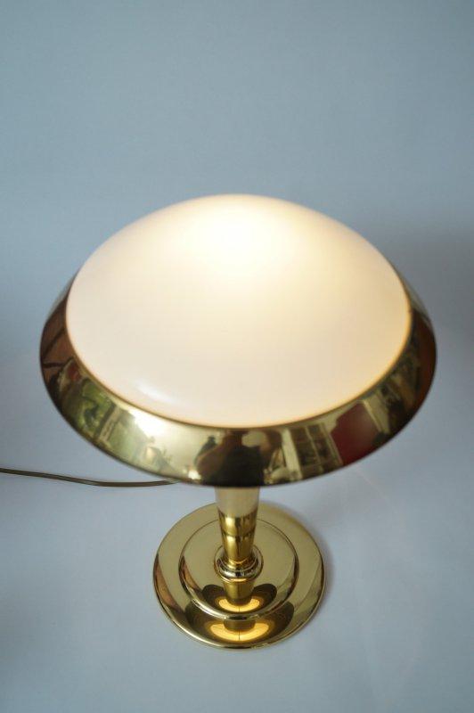 vrfbar Art Deco Design Schreibtisch Pilzleuchte Messinglampe Tischlampe 2 Stk