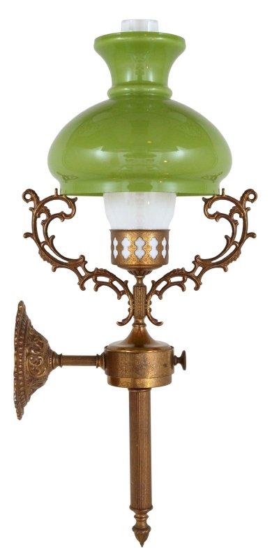 antike jugendstil wandlampe petroleum wandleuchte lampe messinglampe berlin ebay. Black Bedroom Furniture Sets. Home Design Ideas