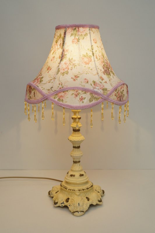 Screen Art Lamp Details Shabby Cloth About New Table Chic Great Brass Romantic Nouveau yN8n0wOvm