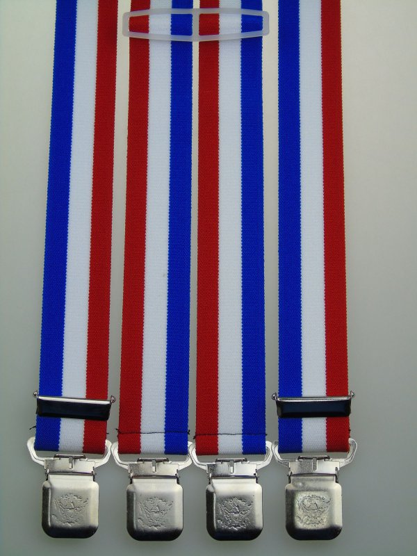 extra starke H-Form Hosenträger 35 mm breit S174 starke Clips