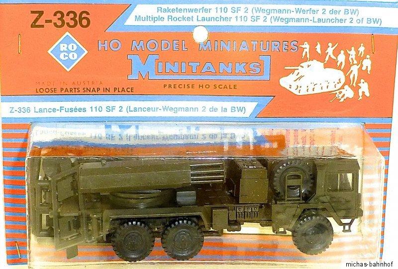 Lanzacohetes 110 SF 2 Wegmann lanzador 2 de los BW roco Minitanks z-336 h0 OVP Å