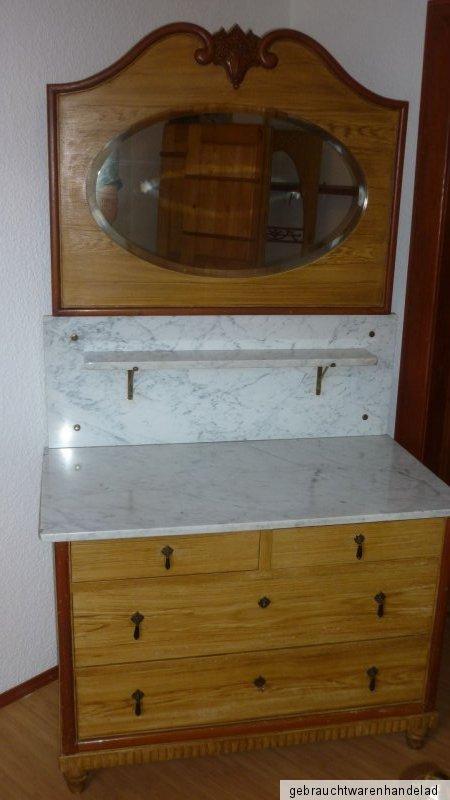 alter antiker waschtisch marmor schrank kommode spiegel shabby landhaus ebay. Black Bedroom Furniture Sets. Home Design Ideas