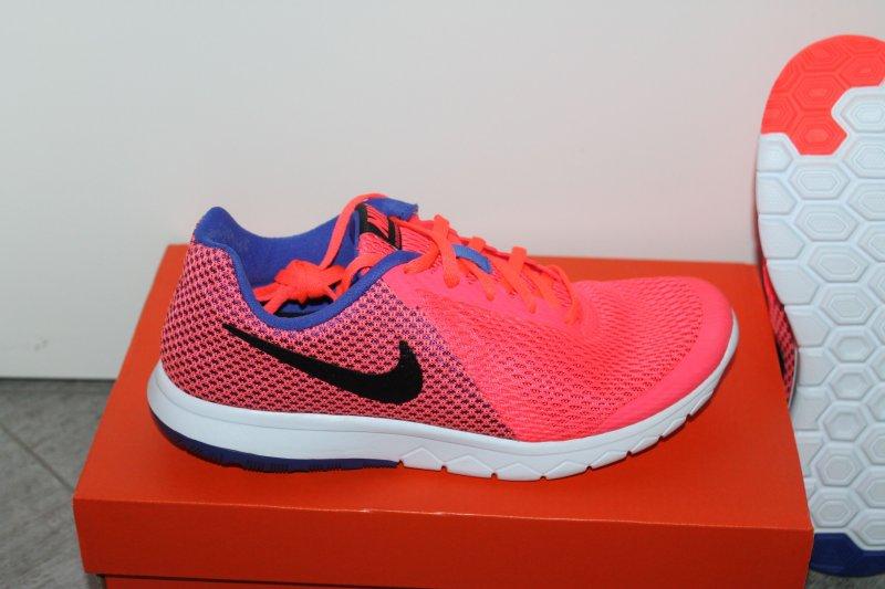 Details zu Nike Flex Damen Running Schuh Pink Schwarz Größe 37,5 UK 4 Neu mit Karton