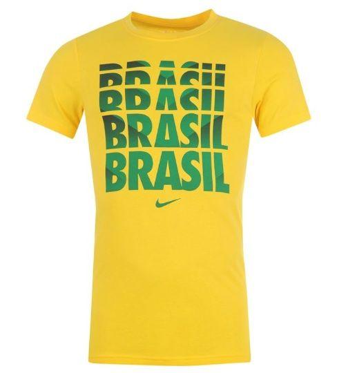 Détails sur Nike Chemise pour Homme Brésil Taille XL Jaune Vert Neuf avec Étiquette