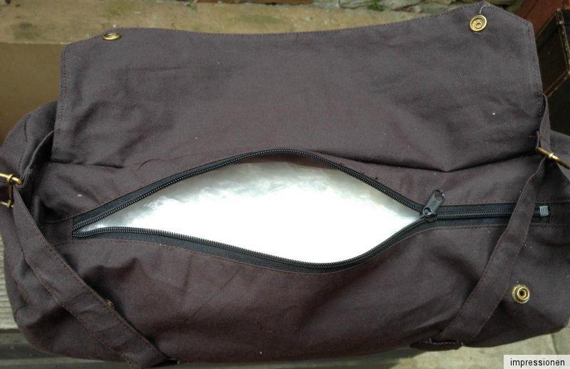 42cm Wax Wachs Lenker Sattel Pack TASCHE Toolbag Werkzeugrolle Chopper schwarz