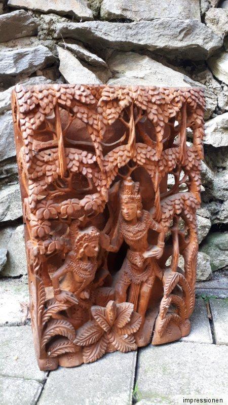 30cm 3D alte schnitzerei handgefertigt Holz Buddha Mönch Buddhismus Feng Shui