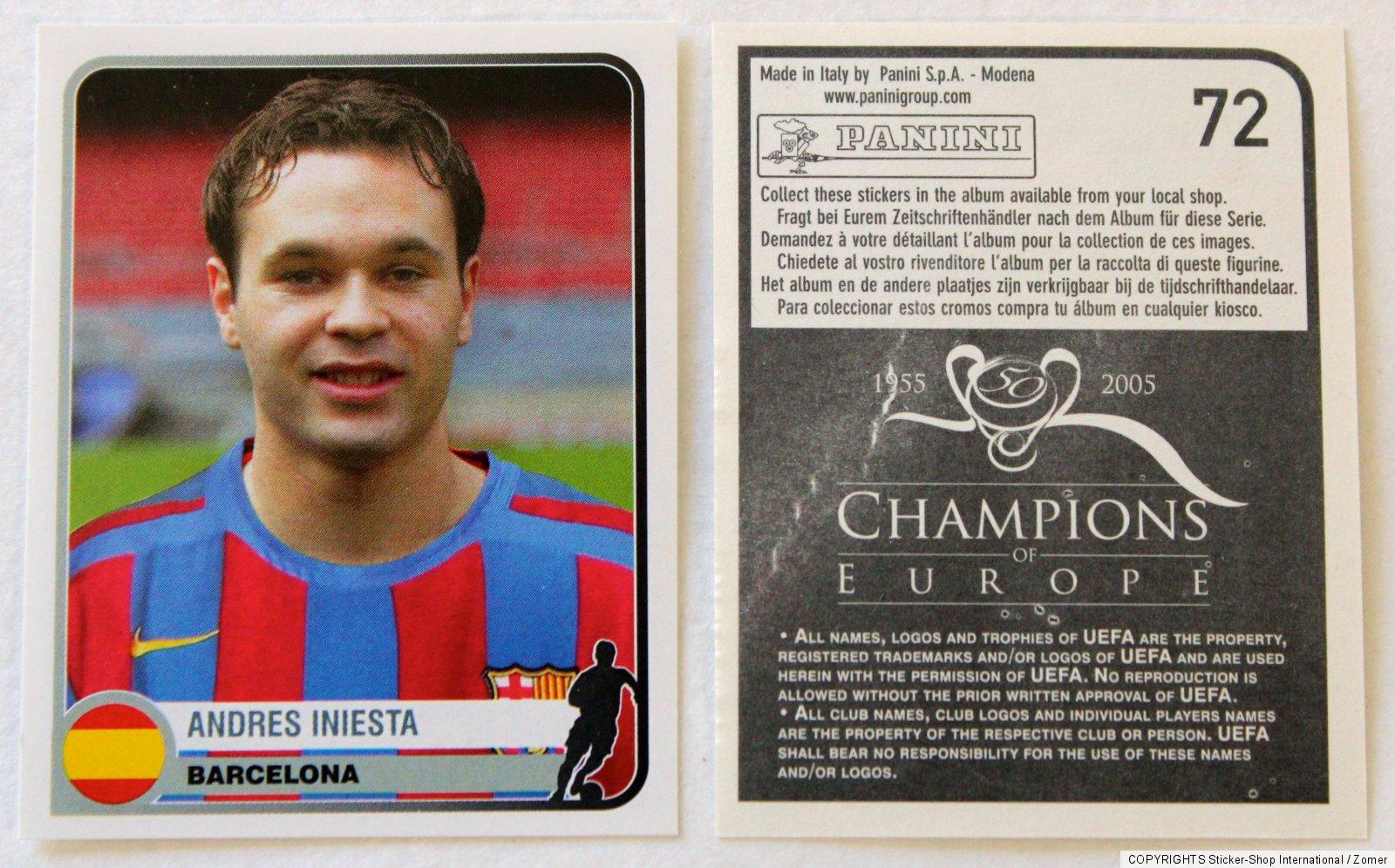 PANINI Champions League 2008//09 Sticker Andres Iniesta FC Barcelona #106