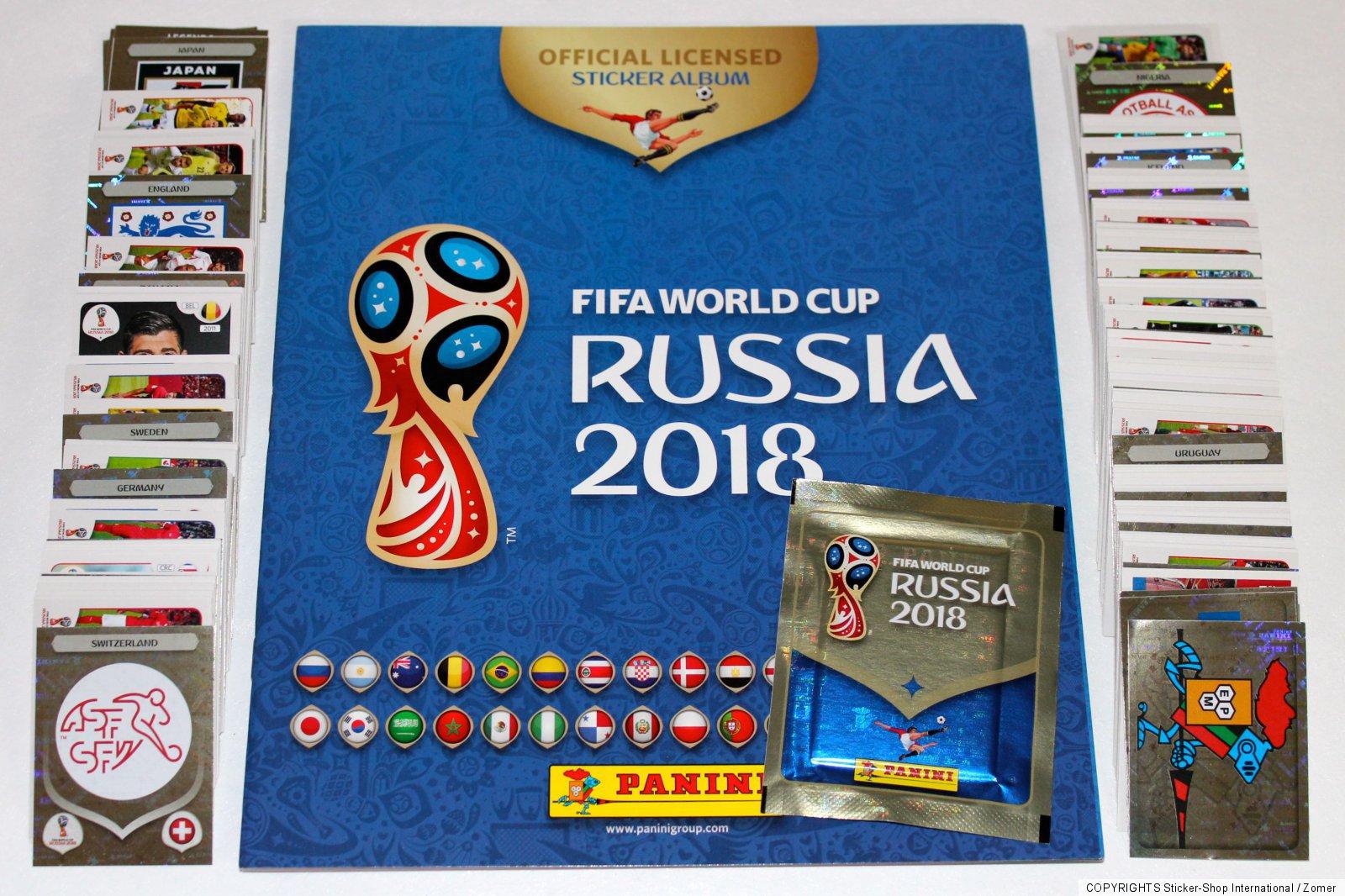 PANINI EMPTY ALBUM VIDE 100 POCHETTES BUSTINA FOOT WORLD CUP RUSSIA 2018 NEUF