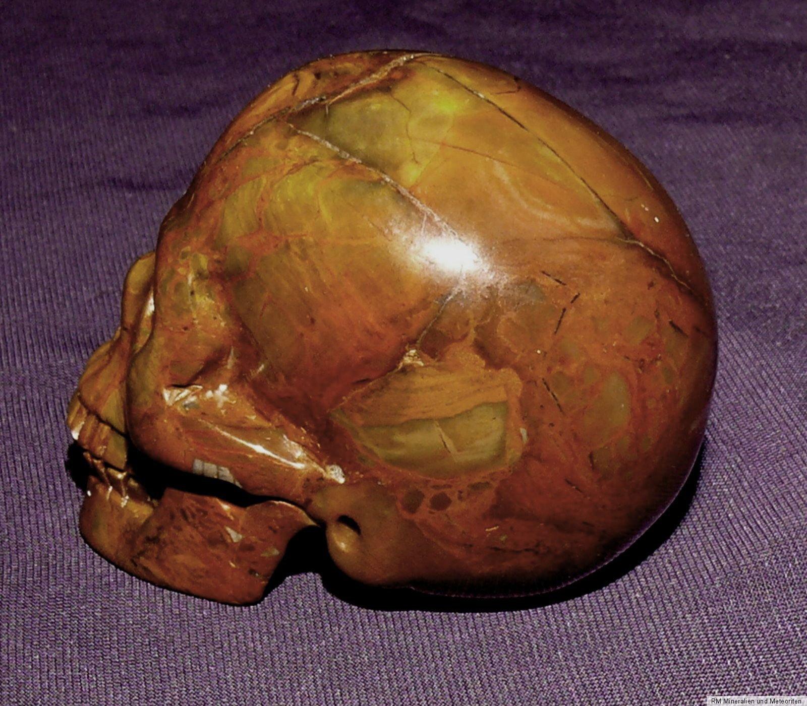 naturgetreuer edelsteinsch del skull gelber leaves achat 94 0g 51x41x34mm ebay. Black Bedroom Furniture Sets. Home Design Ideas