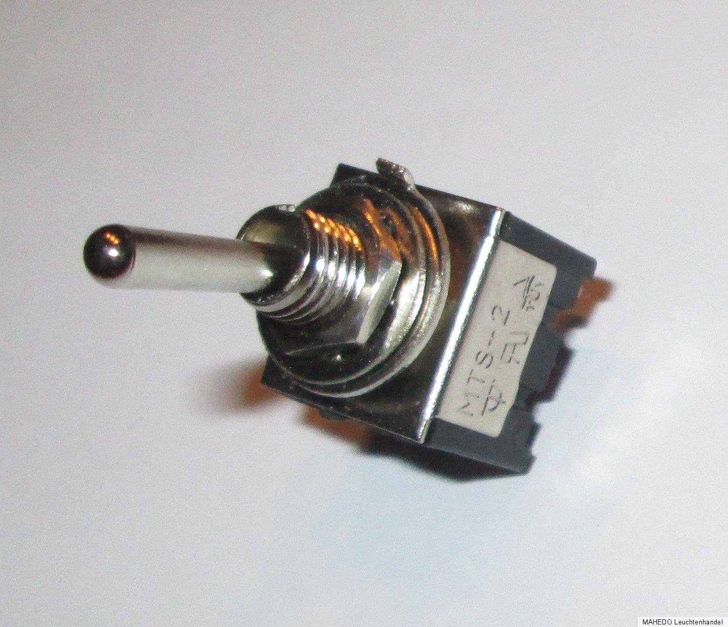ein-aus 10 St Miniatur Kippschalter Schalter Mini Schalter 2 x UM EIN-EIN