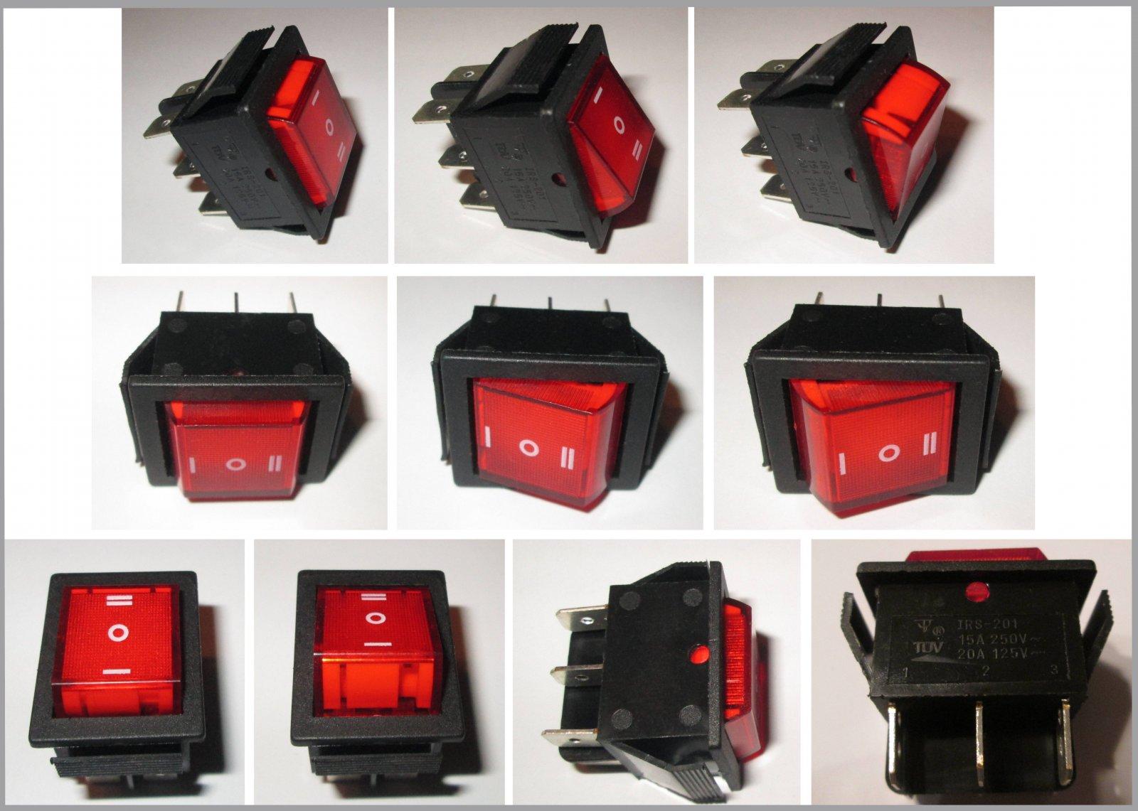 Einbau Geräte Schalter Umschalter Wippe Wechselschalter Wechsler 2 ...