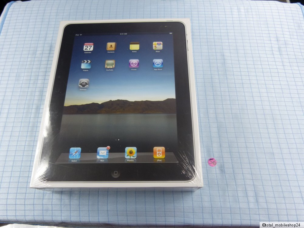 apple ipad 1 generation 16gb wi fi schwarz neu ovp. Black Bedroom Furniture Sets. Home Design Ideas