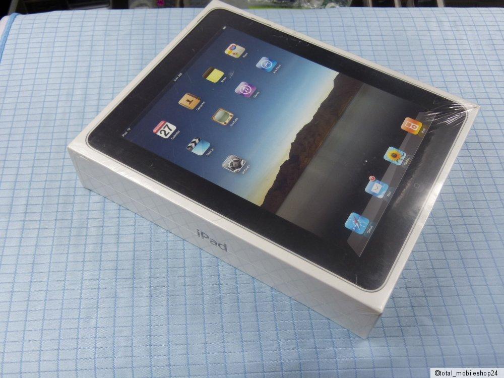 apple ipad 1 generation 16gb wi fi schwarz neu ovp. Black Bedroom Furniture Sets. Home Design Ideas