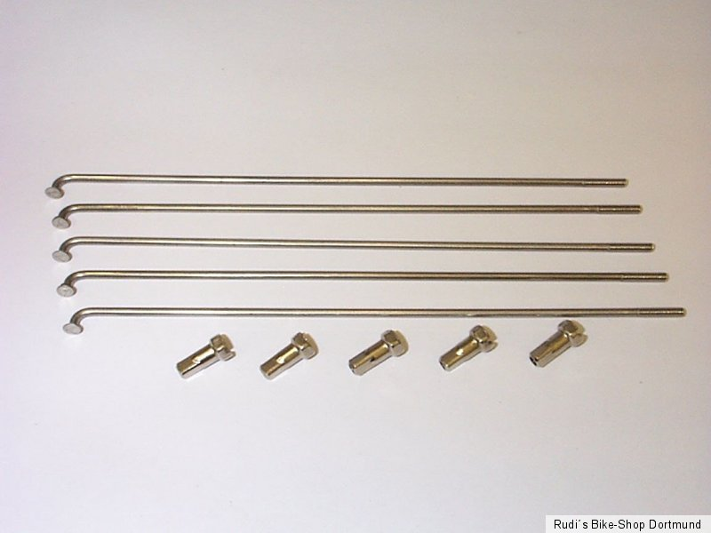 5 x Alpina F1 NIRO Speiche,Fahrradspeichen,Edelstahlspeichen,246 mm,Ø2mm,Silber