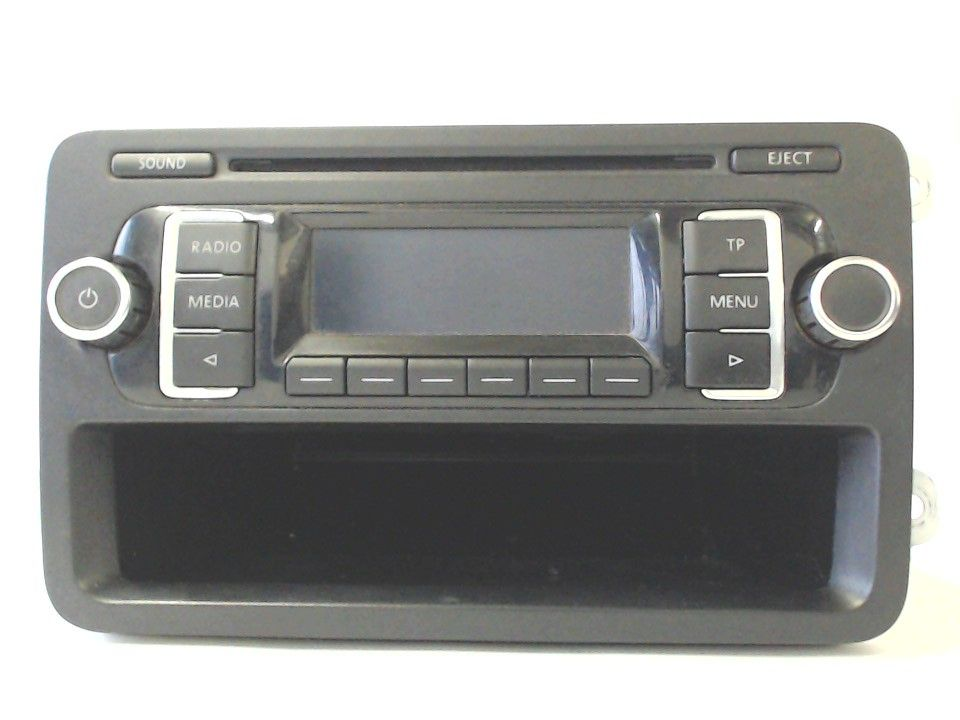autoradio radio cd player 5k0035156a vw golf 6 vi 1k caddy. Black Bedroom Furniture Sets. Home Design Ideas