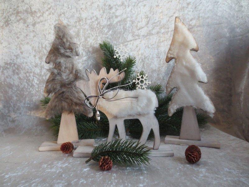 elch deko tannenbaum weihnachten anka kiefer mit kunstfell ebay. Black Bedroom Furniture Sets. Home Design Ideas